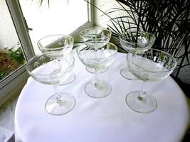 Set of 6 Sasaki Bamboo Pattern Clear Champagne Glasses - $29.70