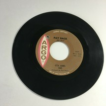 Vtg Record Etta James Pay Back Be Honest With Me northern soul 45 RPM Ar... - $17.57