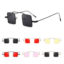 Women Sunglasses Square Retro Steampunk Metal Small Frame Ladies Fashion... - $14.55