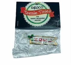 Enesco Teenie Tinies Treasure SEALED miniature figurine ornament Noel ba... - $16.35
