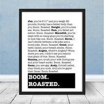 Framed The Office Boom Roasted Michael Scott Dunder Mifflin Stress Relie... - $44.98