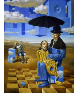 """Cartoon Home Decor Oil Painting Print On Canvas""""Lullaby Of Uncle Magritt... - $13.95+"""