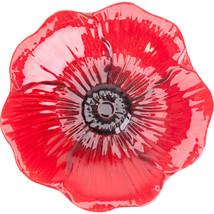 Panacea Red Poppy Red Poppy Glass Bird Bath With Stand 16 Inch 093432829066 - £49.23 GBP