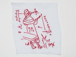 FREE SHIP: Vintage November Hand Embroidered Quilt Block - Thanksgiving ... - $11.75