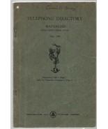 Telephone Directory - Waterloo Including Cedar Falls - May, 1945 - North... - $19.59