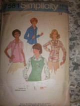Simplicity 1976 Pattern 7581 Bouses - $15.99