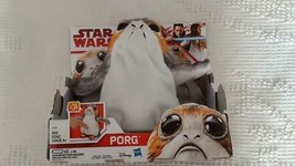 "NEW DISNEY STAR WARS 7.5"" ELECTRONIC PORG, FLAPS, WAVES,CHATTERS, WADDLE... - $6.39"