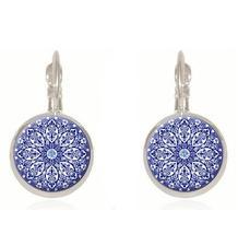 Blue Mandala Earrings - $14.99