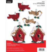 Bucilla 'Christmas Bird Ornaments', Christmas Felt Ornament Stitchery Ki... - $29.99