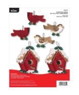 Bucilla 'Christmas Bird Ornaments', Christmas Felt Ornament Stitchery Ki... - $29.99