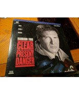 B08 VINTAGE LASERDISC MOVIE CLEAR AND PRESENT DANGER HARRISON FORD 1994 - $4.94