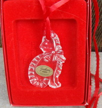 Gorham Cat Kitten Christmas Tree Ornament Holiday Animal Crystal C1311 - $18.00