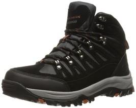 Skechers USA Men's Relment Sandor Chukka Waterproof Boot Black 12 M US - £52.66 GBP