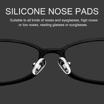 25 Pairs Silicone Nose Pads Screw Push for Eyeglass Sunglasses Eyewear 13mm - $5.97