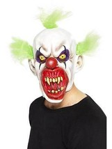 Sinister Clown Mask,  One Size, Halloween Fancy Dress Accessories #AU - $17.84