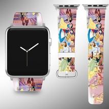 Disney Princess Apple Watch Band 38 40 42 44 mm Fabric Leather Strap 01 - $24.97