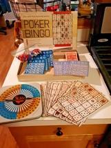 Vintage Transogram Poker Bingo  game and original box 1963 Free shipping - $16.82