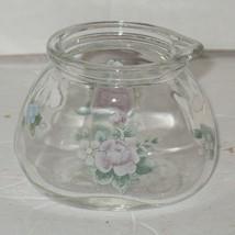 Pfaltzgraff Tea Rose Glass Milk Cream Serving Creamer Pitcher - $18.81