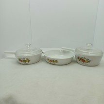 Vintage Corningware Spice Of Life 6 1/4 In. Skillet 1 And 1 1/2 Pint Saucepans - $44.55