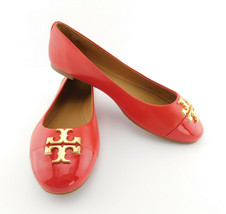 New Tory Burch Size 8 Brilliant Red Everly Ballet Flats Shoes - $168.00
