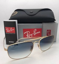 New RAY-BAN Sunglasses THE COLONEL RB 3560 001/3F 58-17 Gold Aviator w/B... - $179.99