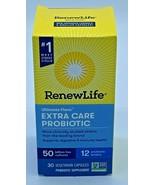 Renew Life Ultimate Flora Extra Care Probiotic 50 Billion,30 caps, Exp 6/22 - $34.64