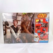 Disneys Star Wars 8 Puzzle Pack 4 Sizes New Sealed Han Solo Chewbacca - $24.23