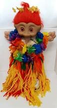 "Hawaii Luau Custom Treasure Troll 16"" Hula Girl 1991 Ace Vtg 90s Lucky R... - $39.59"
