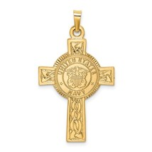14K Gold US Navy Cross Pendant - $315.99