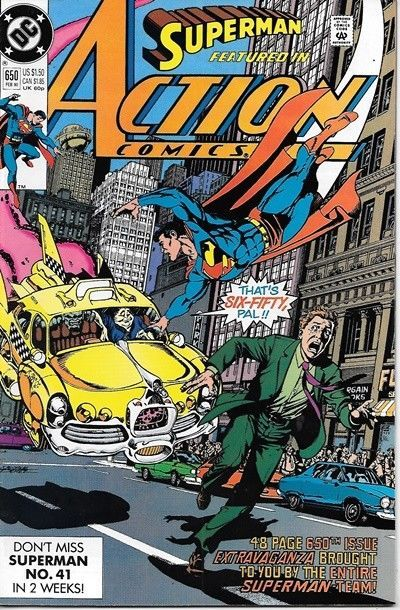 Primary image for Action Comics Comic Book #650 DC Comics 1990 VERY FINE/NEAR MINT