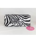 Modella Black & White Zippered Organizer Cosmetic Travel Case Bag Pouch ... - $14.24