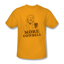 SNL T-shirt More Cowbell Will Ferell retro vintage 90's cotton gold tee SNL179 image 2