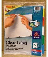 Avery 11406 Clear Label Dividers 5 Tabs 5 Sets - $25.88