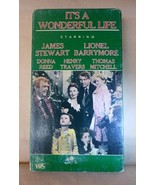 1984 VHS Tape Frank Capra's IT'S A WONDERFUL LIFE Jame Stewart Donna Ree... - $10.00