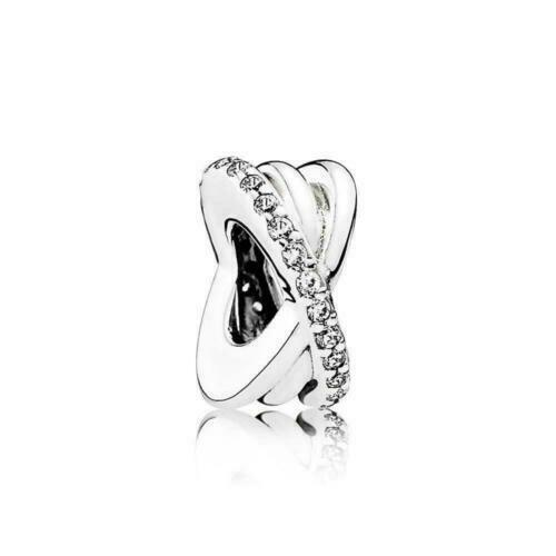 NEW Authentic Pandora Galaxy Entwined Charm Clear CZ # 791994CZ