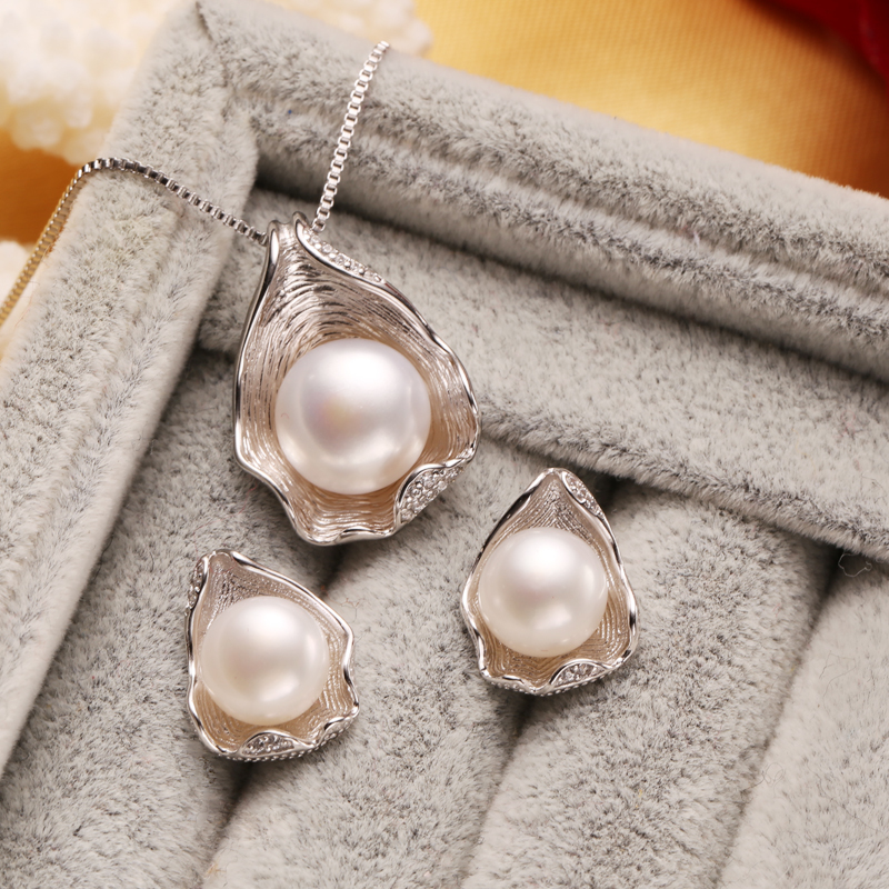 Primary image for FENASY retro pearl jewelry set for women natural pearl jewelry sets 925 sterling