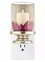 Bath & Body Works Wallflower Light Up Plug In Pillar Candle Fall Red Lea... - $13.37