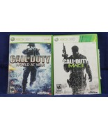 2 Lot XBOX 360 Live Games  Call of Duty World at War & Call of Duty MW3 - $28.92