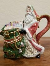 Fitz & Floyd Classics Creamer Vessel with lid, Christmas Santa & Toy Sack - $22.72