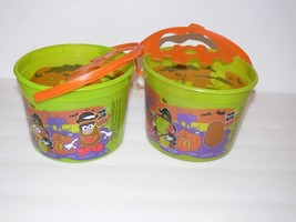 2 McDonald Happy Meal Pail Halloween Bucket Mr Potato Head tb - $11.50