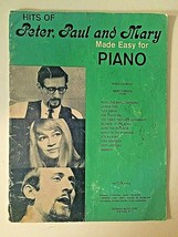 Vintage 1965 Peter Paul & Mary Piano Sheet Music Book 12 Hit Songs FREE ... - $11.87