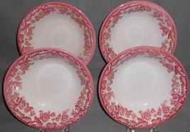 Set (4) Spode DELAMERE CRANBERRY PATTERN Coupe Soup or Cereal Bowls - $79.19
