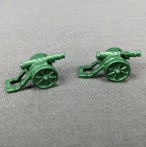 Risk 40th Anniversary Edition Board Game Metal Cannons 2 Pieces Green Army - $5.90