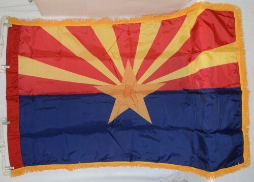 Valley Forge Arizona Flag Pole Hem Yellow Fringe Three By Five Feet