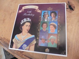 F68 Unused Queen Elizabeth II 75th Birthday collectible stamps - $11.63