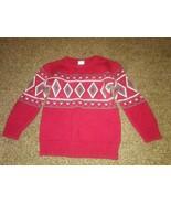 Wonderkids Nordic Sweater Size: 4T Red Crew Neck - $0.99