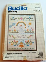 Bucilla Wedding Announcement Sampler Stitchery Kit #49141 Sealed NOS - $19.75