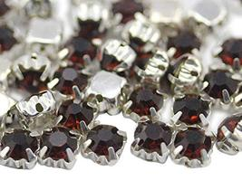 6mm SS30 Brown Sew on Crystal Diamante Rhinestone Rose Montee Beads for ... - $11.87