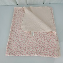 Baby Gap Cream Ivory Pink Cotton 2-ply Girl Blanket Flower Toile Polka Dot - $59.39