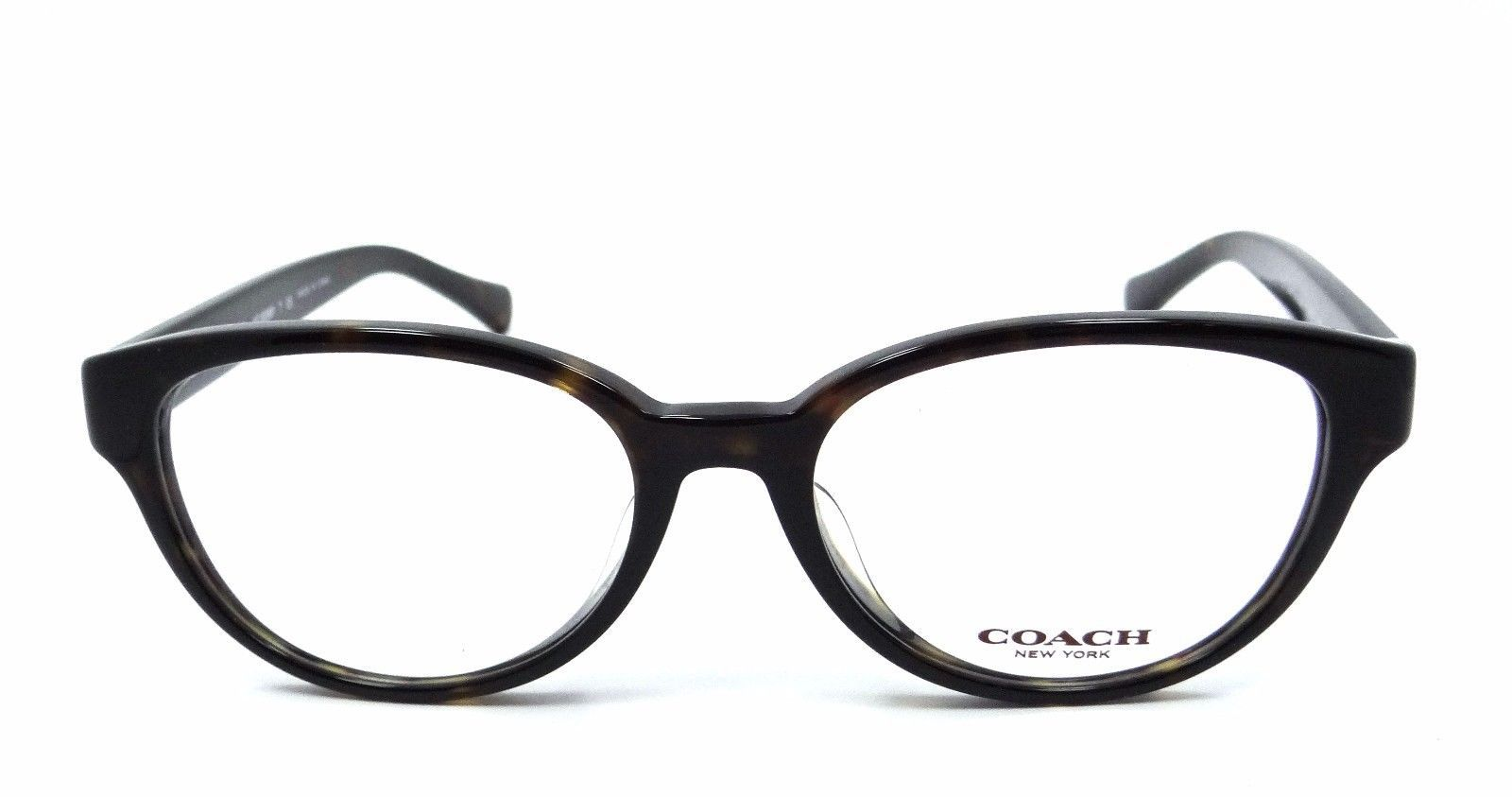 Authentic Coach Rx Eyeglasses Frames HC 6069F 5120 53x17 Dark Tortoise Asian Fit